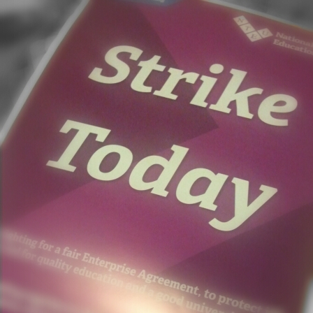 Photo of front of flyer about the strike